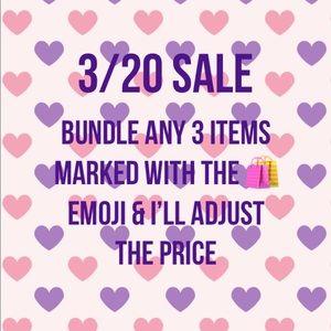 3/$20 SALE